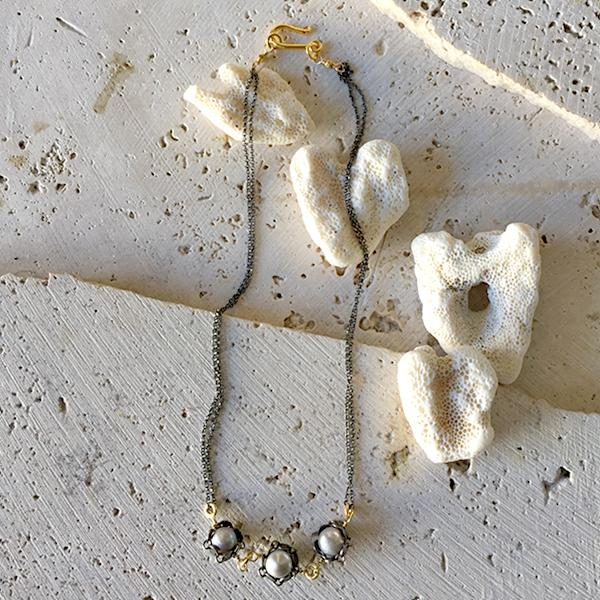 Petite Pearl Necklace Necklace Robindira Unsworth