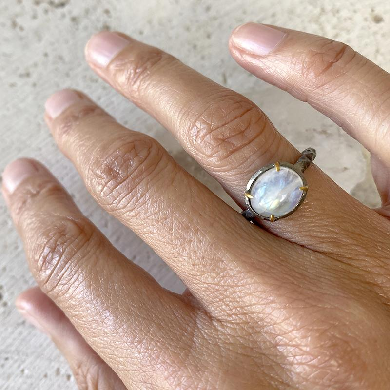 Rainbow Moonstone Ring Ring Robindira Unsworth