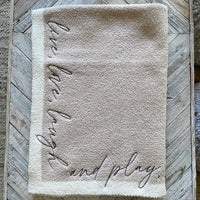 Inspiration Embroidered Blanket