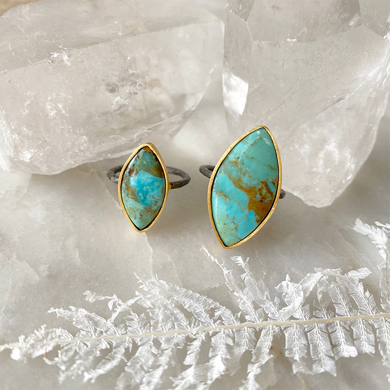 Turquoise Marquis Ring