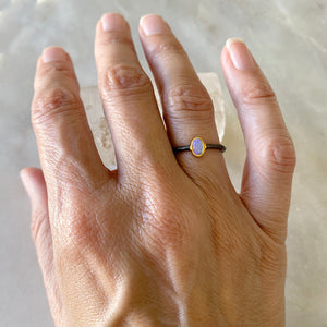 Delicate Australian Opal Stacking Ring