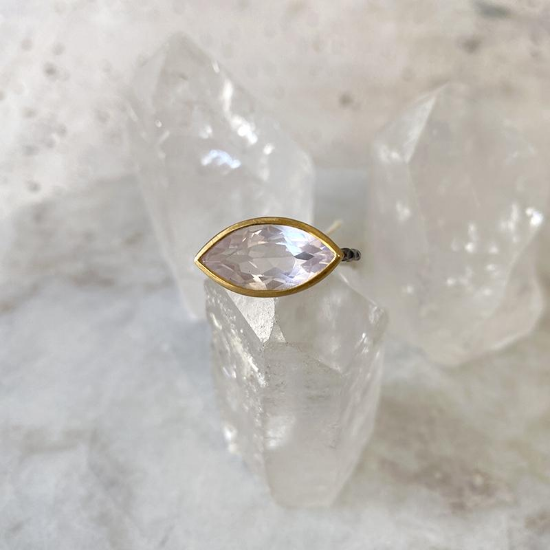 Rose Quartz Marquis Ring Ring Robindira Unsworth