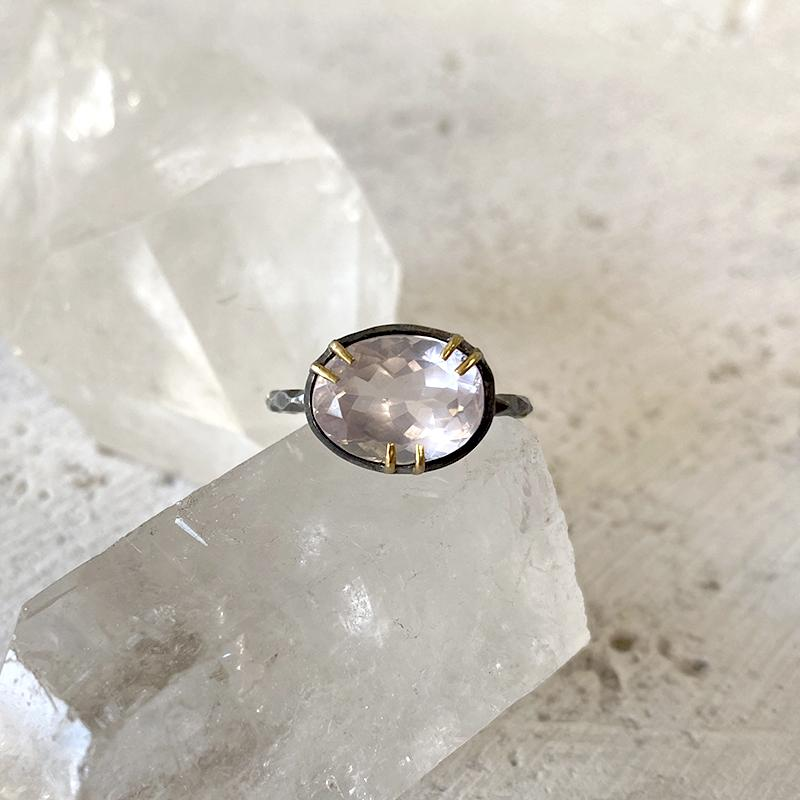 Rose Quartz Ring Ring Robindira Unsworth