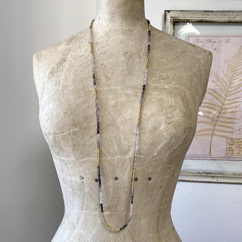 Rutilated Quartz Layering Necklace Necklace Robindira Unsworth