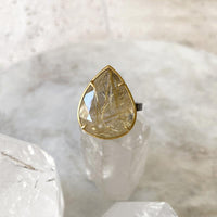 Rutilated Quartz Teardrop Ring Ring Robindira Unsworth