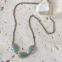 Shimmering Aquamarine Necklace Necklace Robindira Unsworth