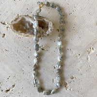 Silverite And Copper Aquamarine Necklace Necklace Robindira Unsworth