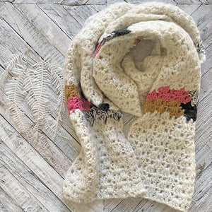 Snow White Crochet Winter Scarf Clothing Knit Bon Bons