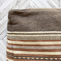 Square Wool Pouf Pouf Creative Co-op