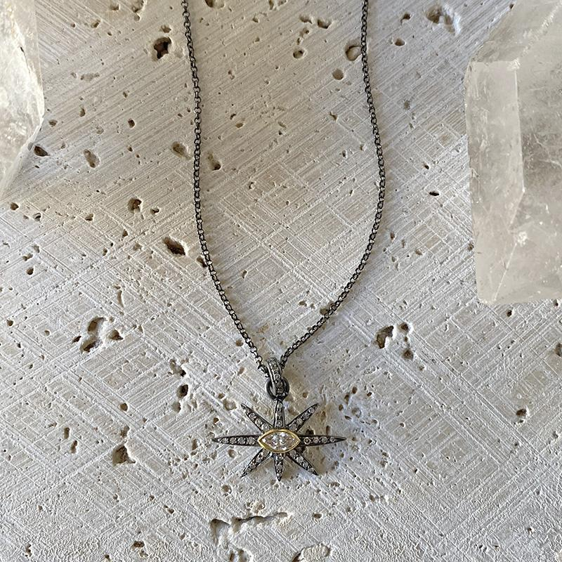 Star Marquis Diamond Pendant Necklace Necklace Robindira Unsworth