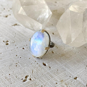 Statement Rainbow Moonstone Ring Ring Robindira Unsworth