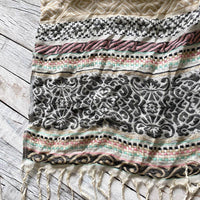 Subtle Luxury Striped Pattern Scarf Clothing Subtle Luxury
