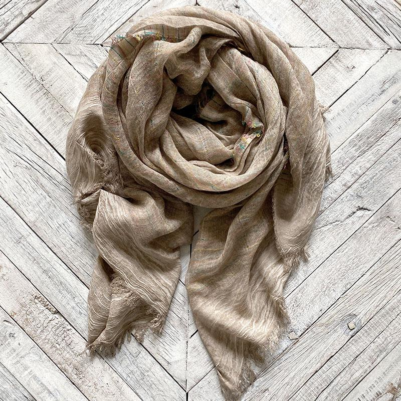 Taupe Ombre Scarf Clothing LFFASHION
