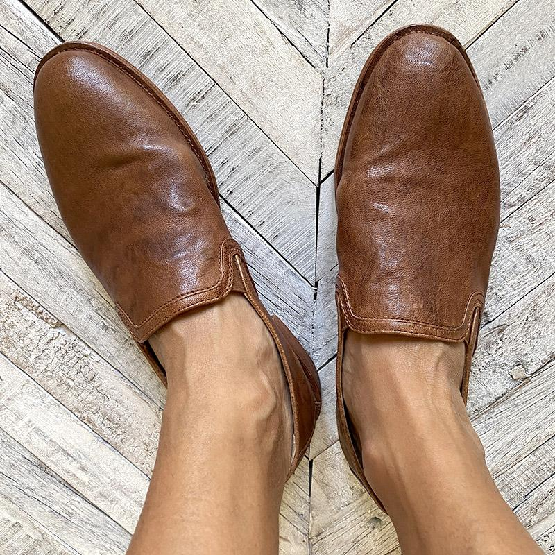 Trask Brown Leather Loafers Shoes Trask