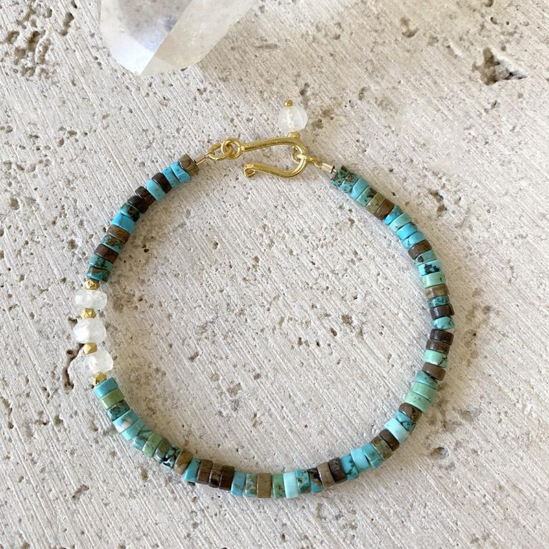 Turquoise and Moonstone Bracelet Bracelet Robindira Unsworth