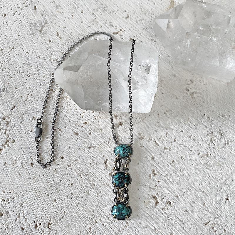 Turquoise Drop Necklace Necklace Robindira Unsworth