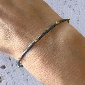 Two Tone Diamond Bangle Bangle Robindira Unsworth