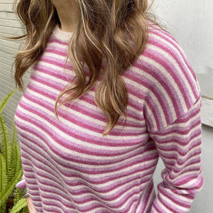 Velvet Cashmere Striped Sweater Clothing Velvet