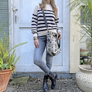 Velvet Taupe Stripe Sweater Clothing Velvet
