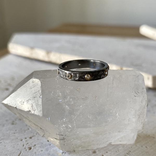 White Topaz Stacking Ring Ring Robindira Unsworth