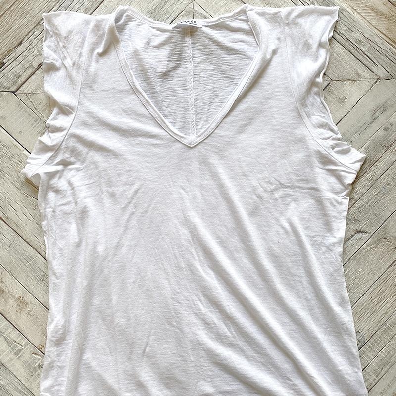 White V Neck Finn Top Clothing LA MADE