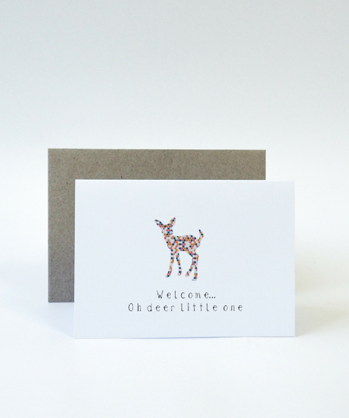 Baby Gift Card - Welcome Oh Deer Little One