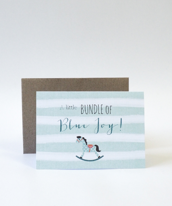 Bundle Of Blue Joy Card