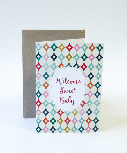 Baby Gift Card - Welcome Sweet Baby