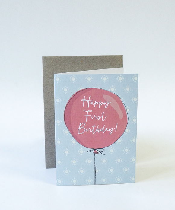 Birthday Gift Card - First Birthday Balloon