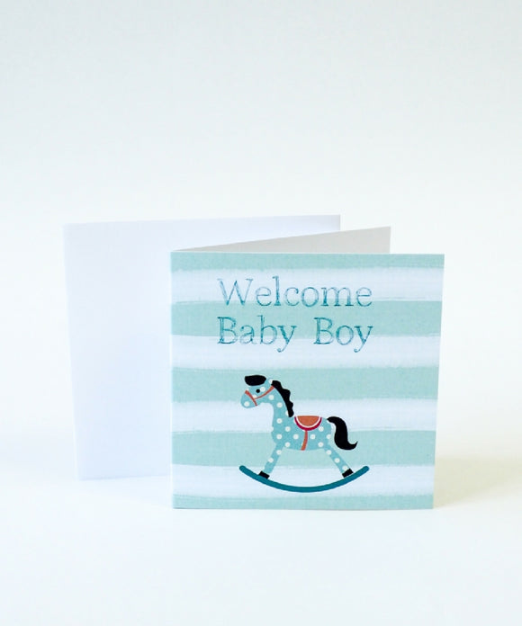 Welcome Baby Boy Small Card