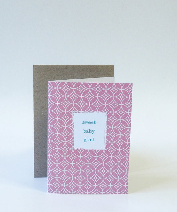 Sweet Baby Girl Gift Card