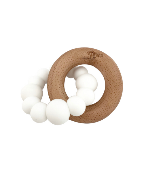Nature Bubz Natural Teether Blok White
