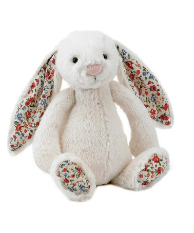 Jellycat Bashful Bunny Cream Blossom Medium