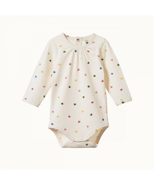 Nature Baby Florence Bodysuit Heart Print