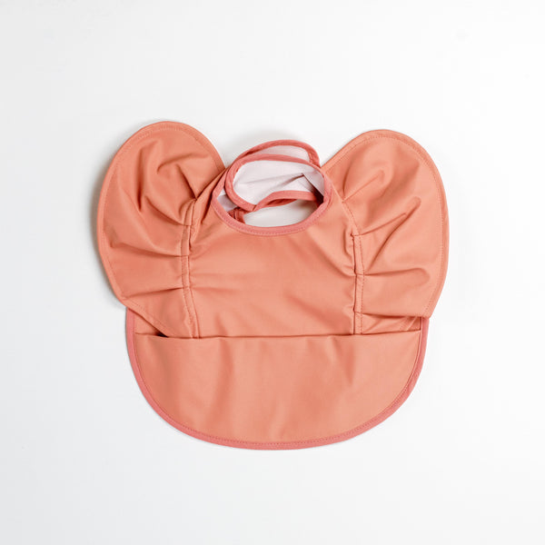 Snuggle Hunny Kids Waterproof Frill Snuggle Bib Terracotta