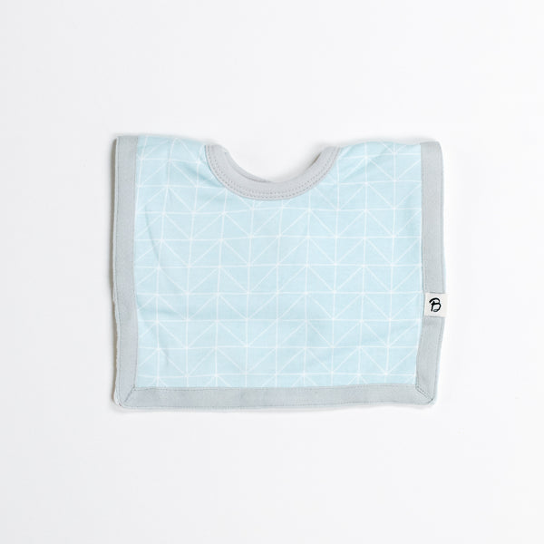 Bibalicious Square Bib Grid Mint Green