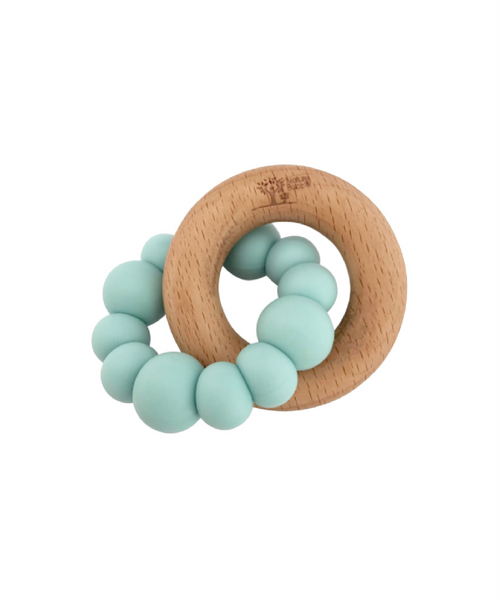 Nature Bubz Natural Teether Blok Seafoam