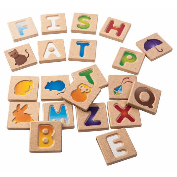 Plan Toys Wooden Alphabet Set A-Z