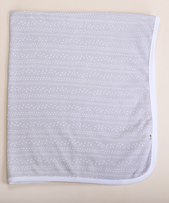 Grey Footprints Jersey Wrap