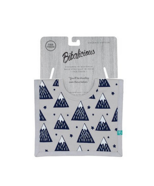 Bibalicious Square Bib Mountains