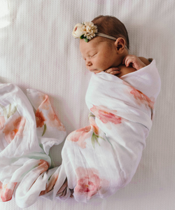 Sorbet Bloom Organic Muslin Wrap