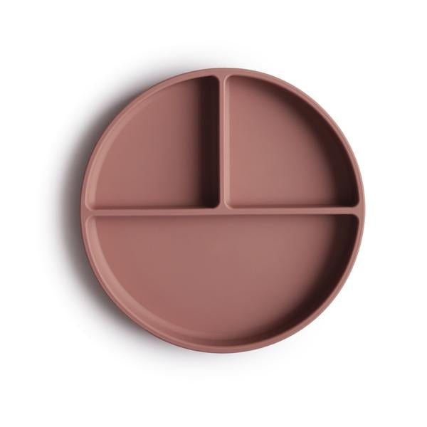 Mushie Suction Silicone Plate Cloudy Mauve