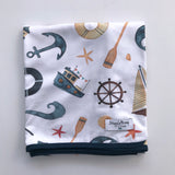 Snuggle Hunny Kids Baby Jersey Wrap and Beanie Set Shipwreck