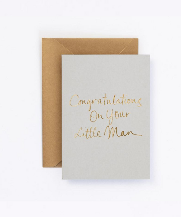 Congratulations On Your Little Man Gift Card