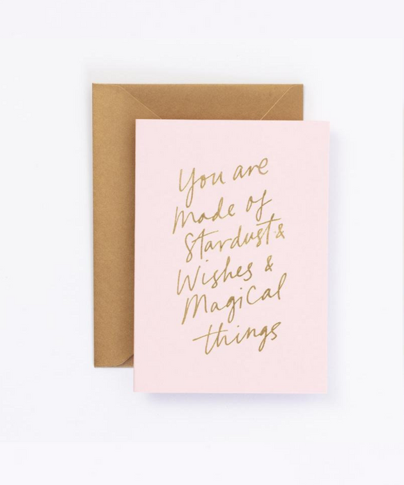 You Are Made of Stardust, Wishes and Magical Things Gift Card