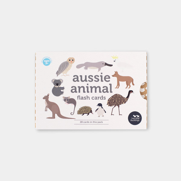 Two Little Ducklings Flash Cards Aussie Animals