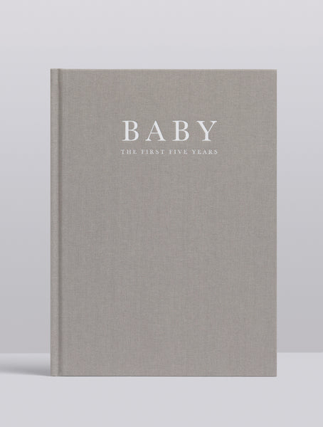 Write To Me Baby Journal Grey
