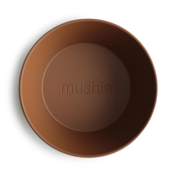 Mushie Round Dinner Bowl Set Caramel
