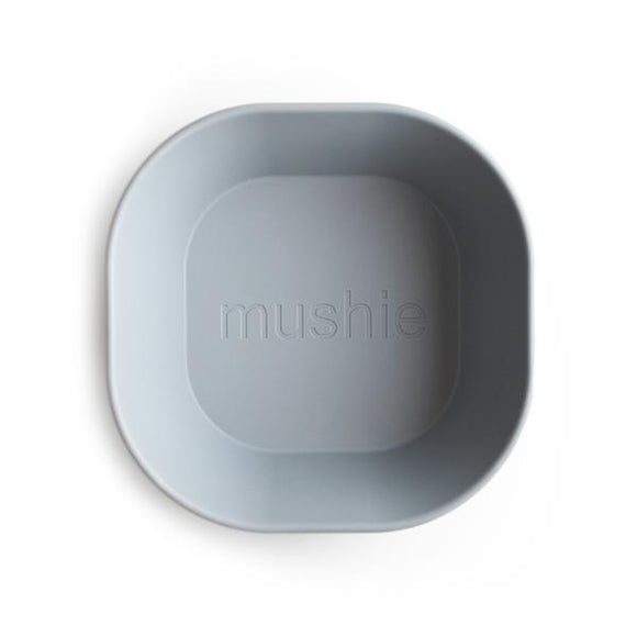 Mushie Square Dinner Bowl Set Cloud Grey