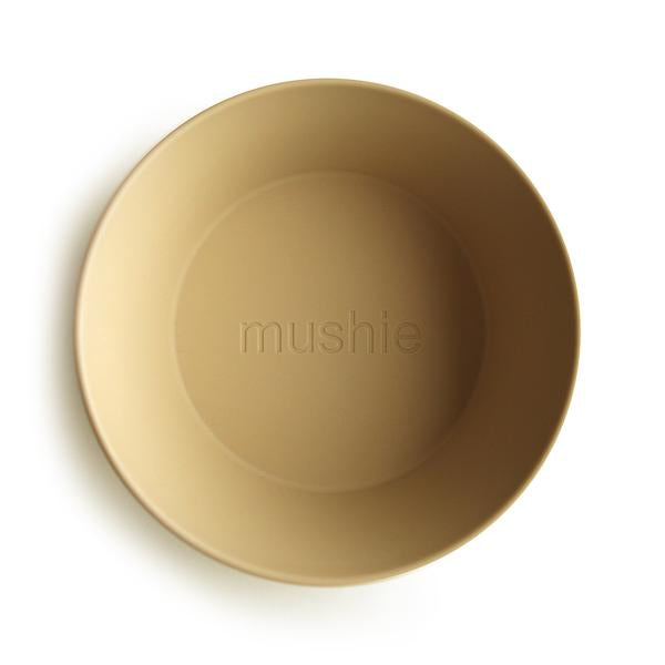 Mushie Round Dinner Bowl Set Mustard